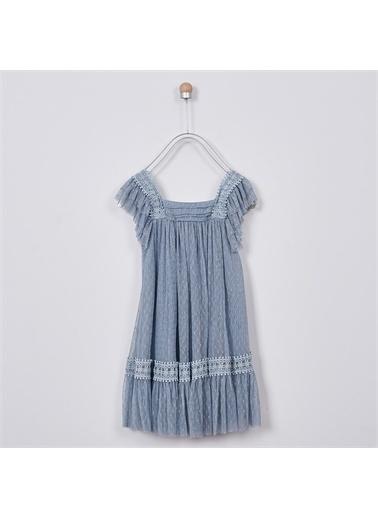 Panço Kız Çocuk Parti Elbisesi 2011GK26001 Lacivert